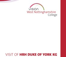 Event – HRH The Duke of York visit programme